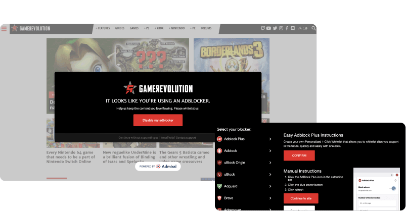 Adblock Engage and Recovery GameRevolution