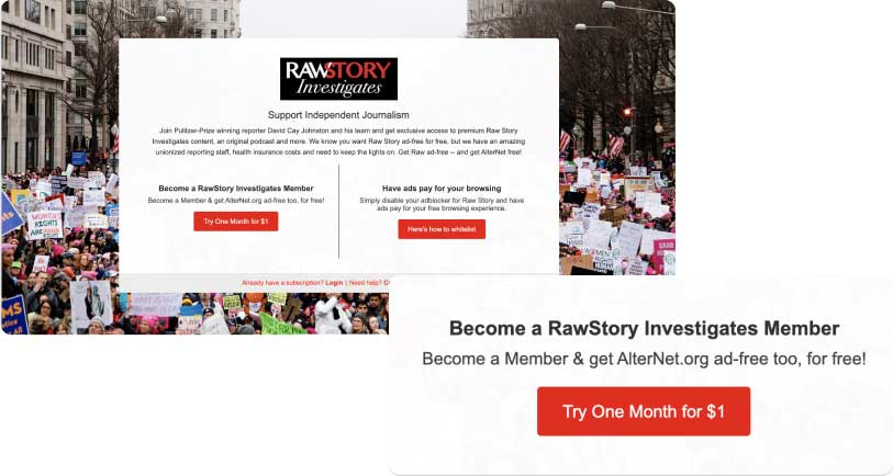 Digital Subscription CTA Raw Story